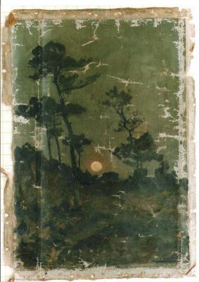 peinture avant restauration,de L.Cabié.