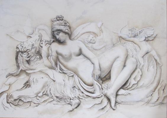 imitation bas relief sur blanc veiné
